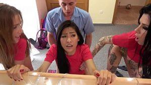 ดูหนังโป๊ออนไลน์ฟรี Fake Hostel Italian Thai and Czech soccer babes squirting in crazy orgy เซ็กหมู่